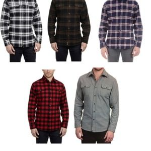 Men's 9oz Cotton Flannel Brawny Flannel Shirt